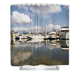 Marina At Granville Island Vancouver Bc Shower Curtain by David Gn