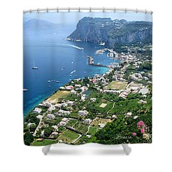 Marina Grande Anacapri Shower Curtain by Jennie Breeze
