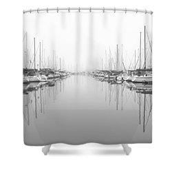 Shower Curtain featuring the photograph Marina - High Key by Heidi Smith