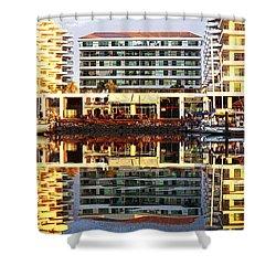 Marina Mazatlan Mirror Shower Curtain