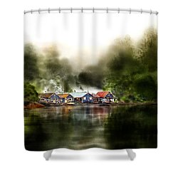 Marina Retreat Shower Curtain