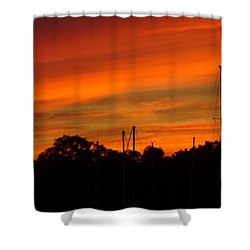 Shower Curtain featuring the photograph Marina Sunset by Deena Stoddard