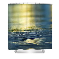 Marine Blues Shower Curtain by Laura Fasulo
