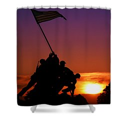 Marine Corps Memorial Shower Curtain