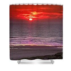 Marine Sunset Shower Curtain by Robert Bales