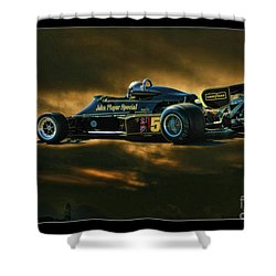 Mario Andretti John Player Special Lotus 79  Shower Curtain