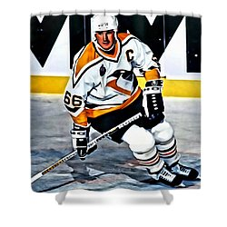 Mario Lemieux Shower Curtain