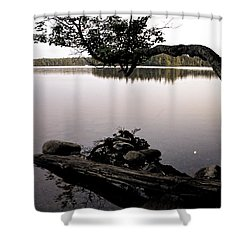 Marion Lake And The Moon Shower Curtain