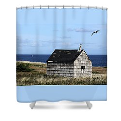 Shower Curtain featuring the photograph Maritime Cottage by PJ Boylan