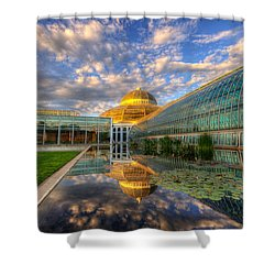 Marjorie Mcneely Conservatory Evening  Shower Curtain
