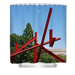 Mark Di Suvero Steel Beam Sculpture Shower Curtain