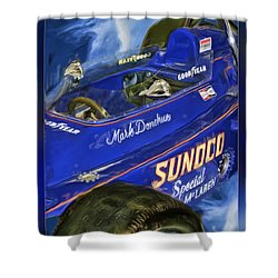 Mark Donohue 1972 Indy 500 Winning Car Shower Curtain