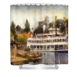 Mark Twain Riverboat Frontierland Disneyland Photo Art 02 Shower Curtain