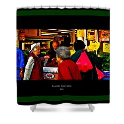 Market Day In Chinatown  Shower Curtain by Joseph Coulombe