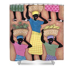 Market Day Shower Curtain by Sarah Porter