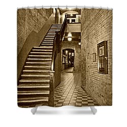 Market Square - Sepia 2 Shower Curtain
