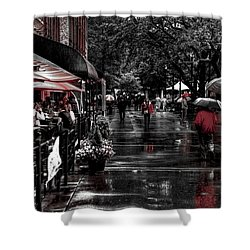 Market Square Shoppers - Knoxville Tennessee Shower Curtain by David Patterson