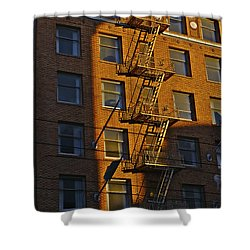 Market Street Area Building 4 Shower Curtain
