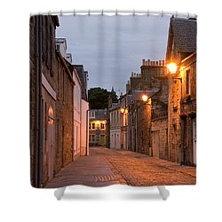 Market Street At Dusk Shower Curtain by Jeremy Voisey