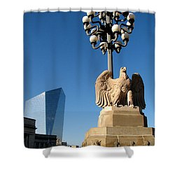 Shower Curtain featuring the photograph Market Street Bridge by Christopher Woods
