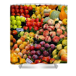 Market Time II Shower Curtain by Sue Melvin