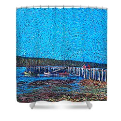 Market Wharf St. Andrews Nb Shower Curtain