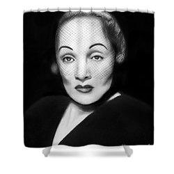 Marlene Dietrich Shower Curtain by Peter Piatt