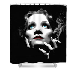 Marlene Dietrich Portrait Shower Curtain
