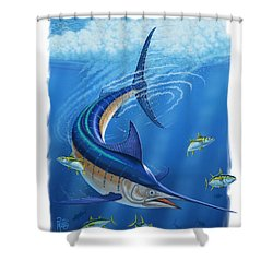 Marlin Shower Curtain by Scott Ross