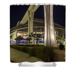 Marlins Park Stadium Miami 3 Shower Curtain by Rene Triay Photography