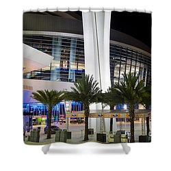 Marlins Park Stadium Miami 5 Shower Curtain by Rene Triay Photography