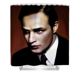Marlon Brando Tribute Shower Curtain