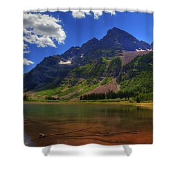 Shower Curtain featuring the photograph Maroon Bells by Alan Vance Ley
