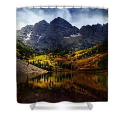 Shower Curtain featuring the photograph Maroon Bells - An American Icon by Ellen Heaverlo