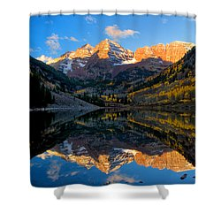 Maroon Bells Landscape Shower Curtain by Ronda Kimbrow