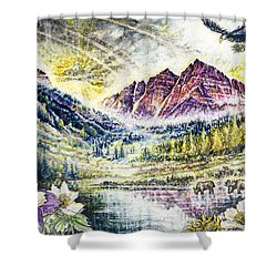 Maroon Bells  Shower Curtain