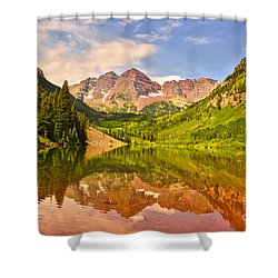 Maroon Bells Summer Shower Curtain