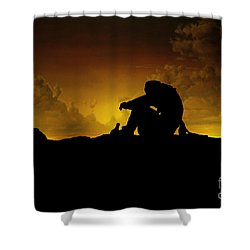Marooned Pirate Shower Curtain by Phil Cardamone
