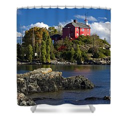 Marquette Harbor Light - D003224 Shower Curtain