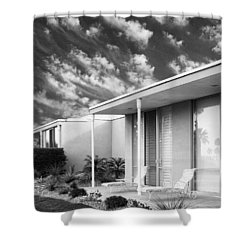 Marrakesh Lounge Bw Palm Springs Shower Curtain by William Dey