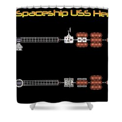 Mars Spaceship Hermes1 Shower Curtain by David Robinson