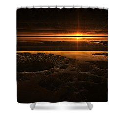 Marscape Shower Curtain by GJ Blackman
