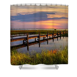 Marsh Harbor Shower Curtain