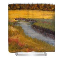 Marsh Mellow Shower Curtain