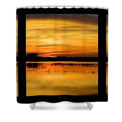 Marsh Rise Tiles 1-3 Shower Curtain by Bonfire Photography