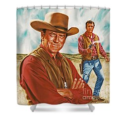 Marshall Mat Dillon Shower Curtain by Dick Bobnick