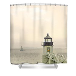 Marshall Point Lighthouse In Maine Shower Curtain