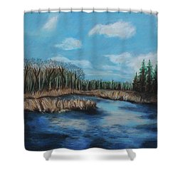 Marshland 1 Shower Curtain