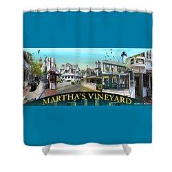 Martha's Vineyard Collage Shower Curtain by Gerry Robins