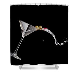 Martini Spill Shower Curtain